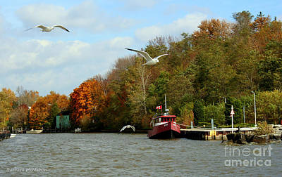Art Print featuring the photograph Port Dover Harbour by Barbara McMahon