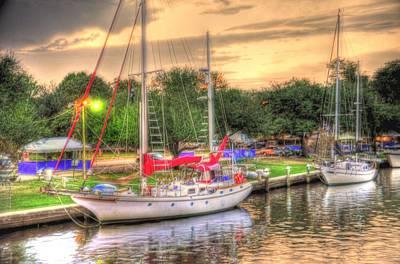 Rowboat Digital Art - Port Fever by Barry R Jones Jr
