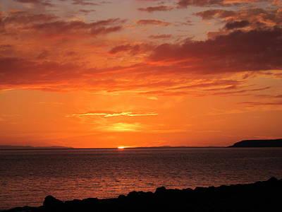 Scottish Photograph - Port Henderson Sunset I by Jennifer Watson