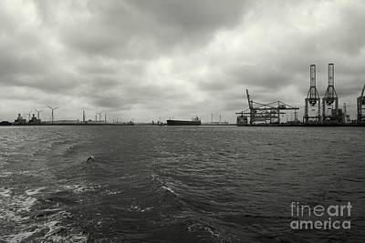Photograph - Port-industrial 2 - Port Landscape by Dean Harte