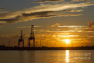 Port Of Charleston Sunset IIi Art Print by Dustin K Ryan