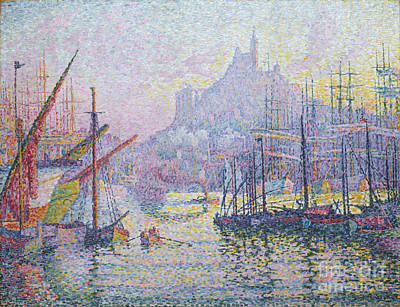 Painting - Port Of Marseilles by Pg Reproductions