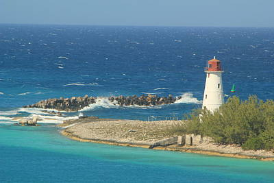 Photograph - Port Of Nassau Lighthouse by RobLew Photography