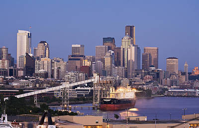 Skylines Royalty-Free and Rights-Managed Images - Port of Seattle by Mike Reid
