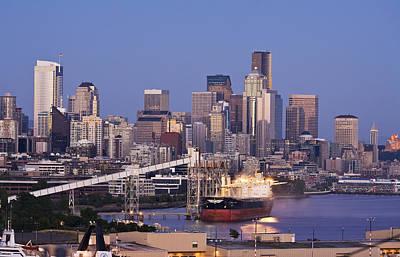 Seattle Skyline Photograph - Port Of Seattle by Mike Reid