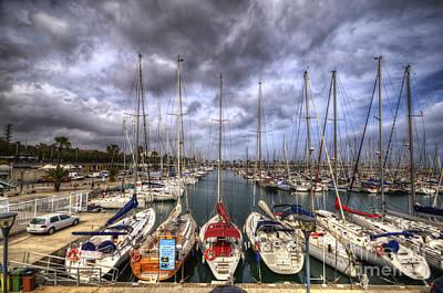 Photograph - Port Olimpic by Yhun Suarez