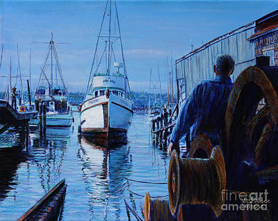 Painting - Port Orchard Ways by LeRoy Jesfield