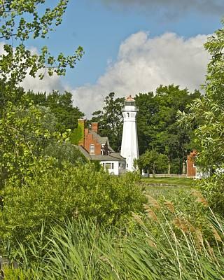 Michigan Port Sanilac Photograph - Port Sanilac Lighthouse by Michael Peychich
