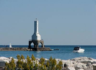 Photograph - Port Washington Pier Light by Keith Stokes