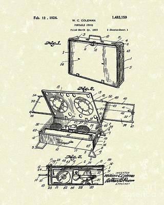 Portable Stove 1924 Patent Art Art Print