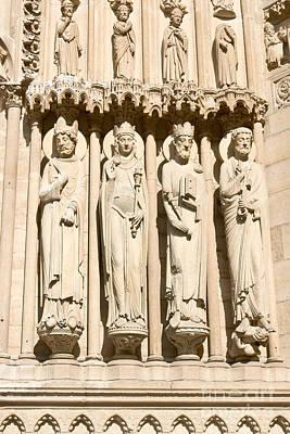 Photograph - Portail Saint Anne Statues by Fabrizio Ruggeri