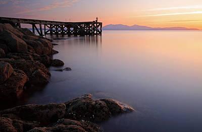 Photograph - Portencross Sunset by Grant Glendinning