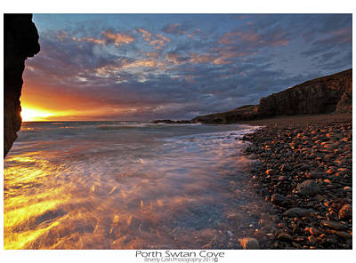 Art Print featuring the photograph Porth Swtan Cove by Beverly Cash