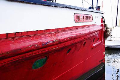 Photograph - Porthole Of The John J Harvey Fireboat by Margie Avellino