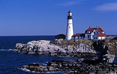 Portland Head Inshore Art Print by Skip Willits