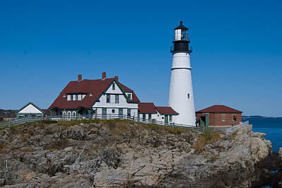 Photograph - Portland Head Light by Peggie Strachan