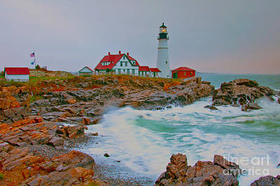 Photograph - Portland Head Lighthouse Hdr by Glenn Gordon