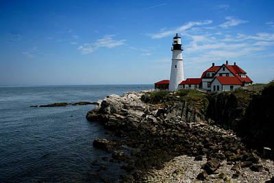 Photograph - Portland Head Lighthouse by Heather Applegate