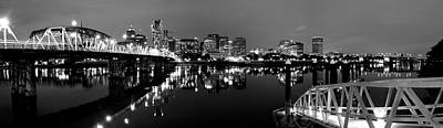 Portland In Black And White Art Print