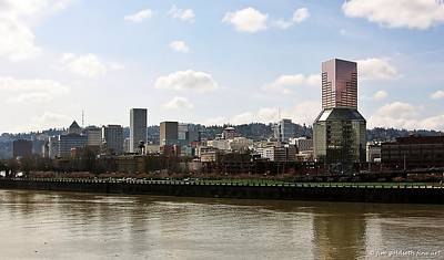 Photograph - Portland On The Willamette by Jim Goldseth