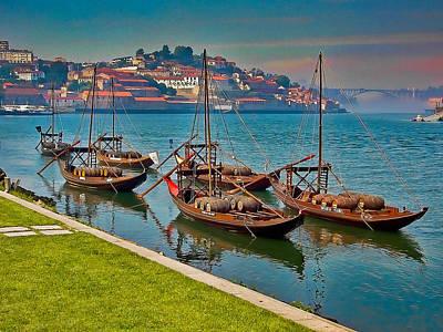 Porto Barges Art Print by Scott Massey