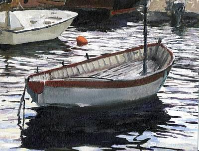 Portofino Italy Painting - Portofino Anchorage by Randy Sprout
