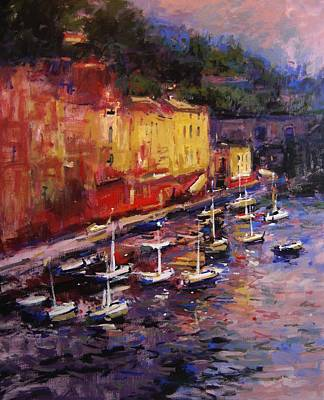 Portofino At Sundown Art Print by R W Goetting
