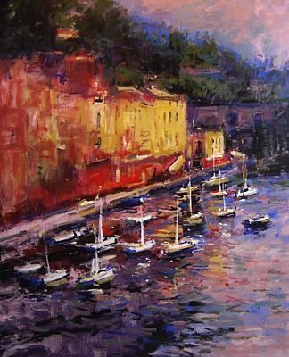 Portofino At Sundown Original by R W Goetting