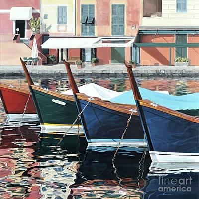 Portofino Beach Painting - Portofino by Carina Mascarelli