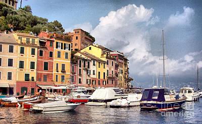 Portofino Photograph - Portofino Harbor by Bill Roche