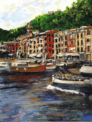 Portofino Late October Art Print by Randy Sprout