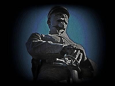 Statue Portrait Mixed Media - Portrait 36 American Civil War by David Dehner