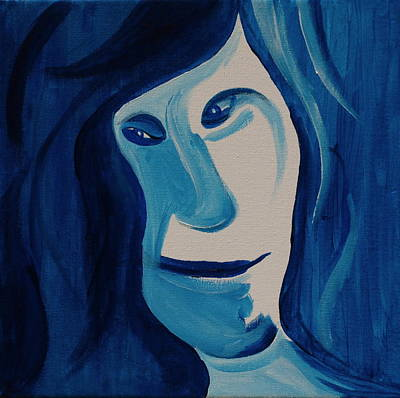 Painting - Portrait In Blue by Sheep McTavish