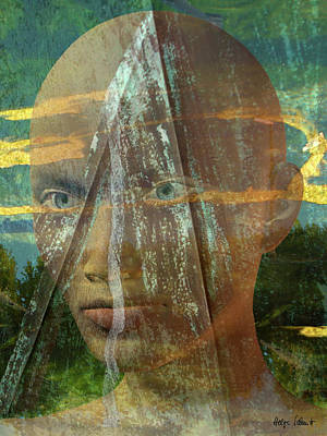 Digital Art - Portrait In The Fields by Helga Schmitt