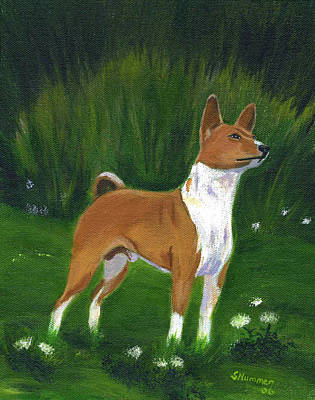 Painting - Portrait Of A Basenji by Sharon Nummer