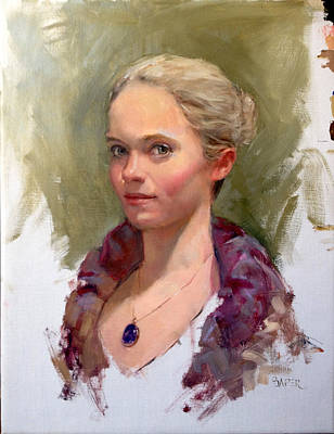 Painting - Portrait Of A Dancer by Chris  Saper
