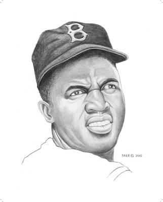 Portrait Of A Hero Jackie Robinson Art Print by Brett Farr