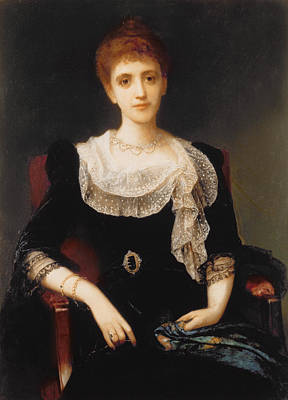 Halle Painting - Portrait Of A Lady by Charles Edward Halle