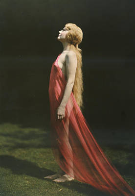 Portrait Of A Nude Woman Draped Art Print by Franklin Price Knott