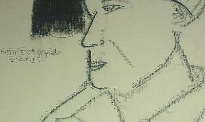Portrait Of A Shopkeeper Bust Art Print by Samson Agegnehu