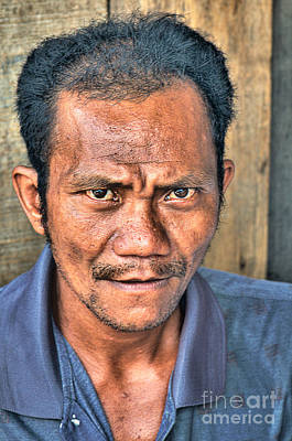 Photograph - Portrait Of A Worker by Charuhas Images