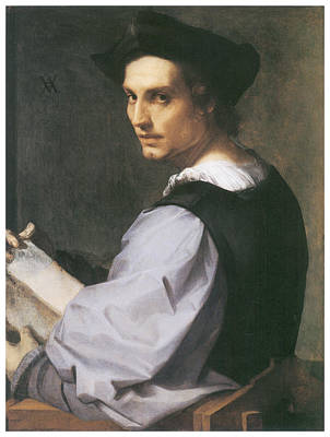 Sarto Painting - Portrait Of A Young Man by Andrea Del Sarto