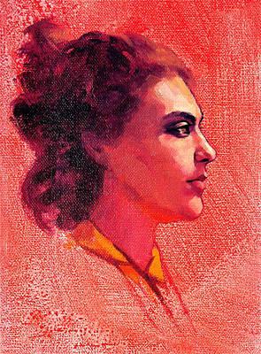 Portrait Of Alysha Art Print by Roz McQuillan