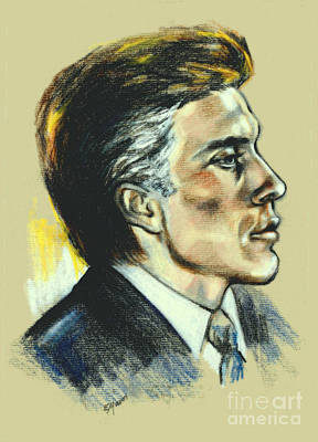 Portrait Of An Actor Art Print by Elinor Mavor