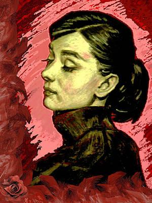 Portrait Of Audrey Hepburn II. Original by Agnes V