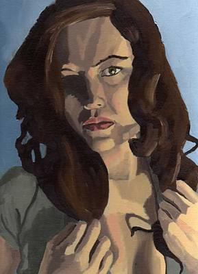 Painting - Portrait Of Emily Ann by Stephen Panoushek