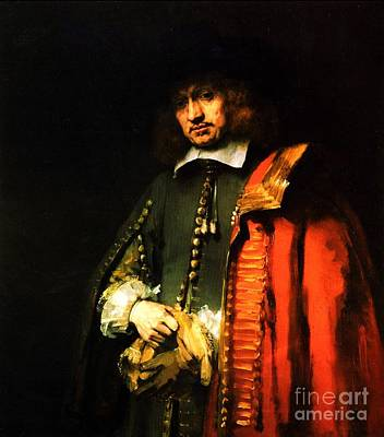 Portrait Of Jan Six Art Print by Pg Reproductions