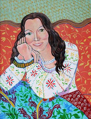 Portrait Of Kim Print by John Keaton