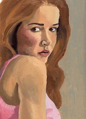 Painting - Portrait Of Laia by Stephen Panoushek