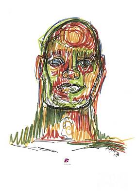 Drawing - Portrait Of Man by Carol Rashawnna Williams